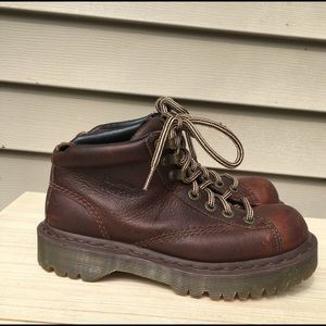 Doc martens brown leather boots